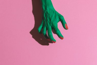 hand of  green zombie