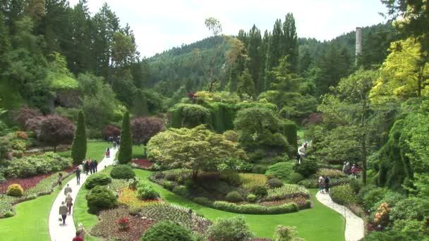 versunkener Garten in der Viktoria-Stadt
