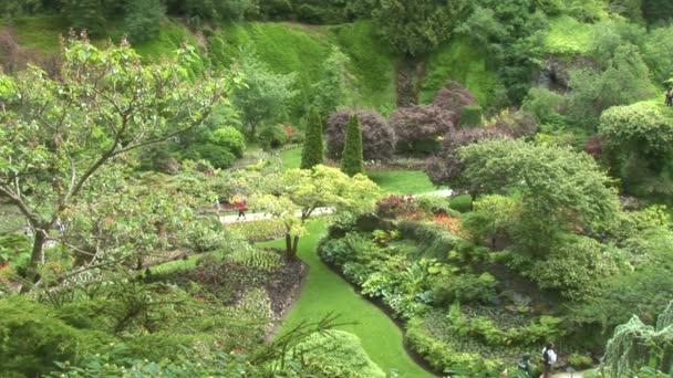 Sunken zahrada ve městě Victoria