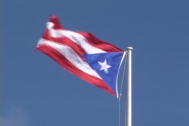 Puerto Rico Flag on sky background