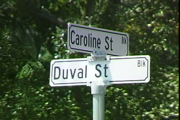 Duval and Caroline Streets Signs