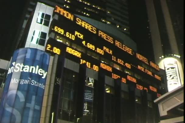 Morgan Stanley Board In New York City Stock Video Worldclips