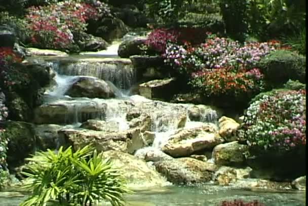 Plovoucí zahrada v zábavním parku