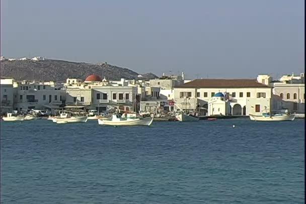 Přístavu Mykonos v Řecku