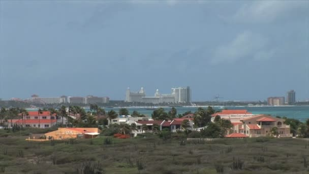 Vista isola di Aruba su Caraibi