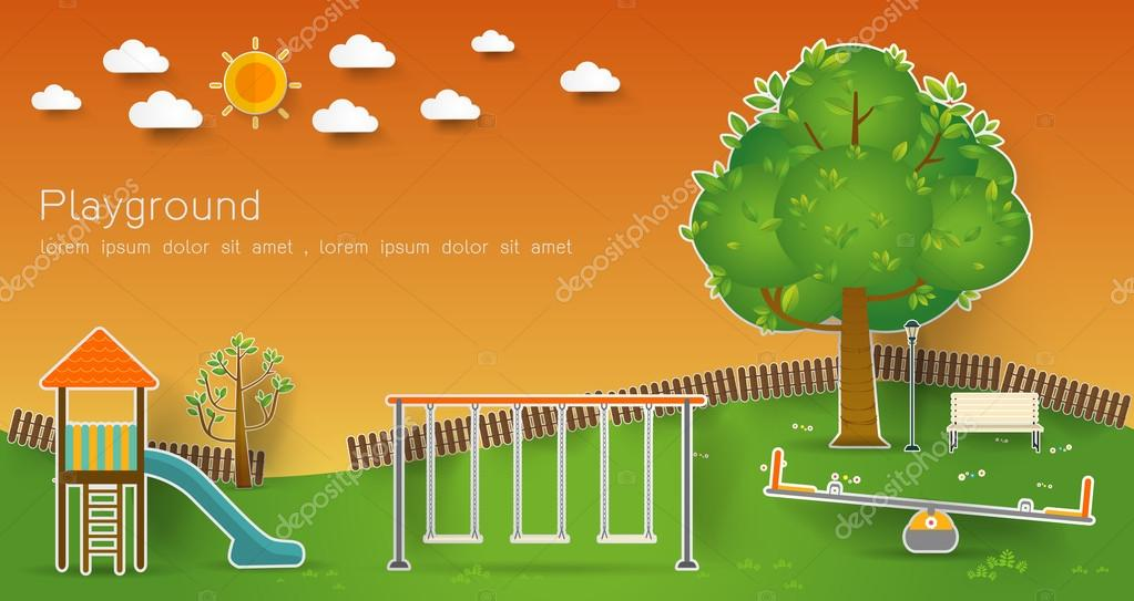 Kids playground. Vector illustration.