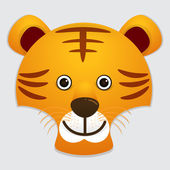 Fotografie Vector image of cute face of tiger