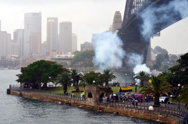 Army firing Salute on Australia Day