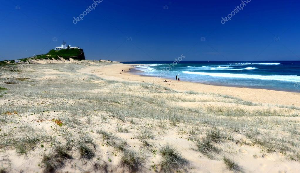 Beach at Newcastle in Australia