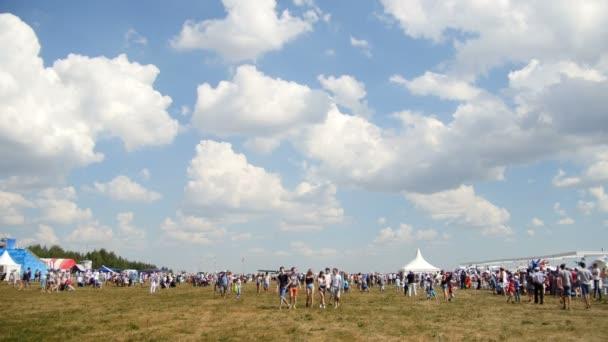 12 August 2016, Kazan, Russia - Kurkachi air show: the crowd at the festival