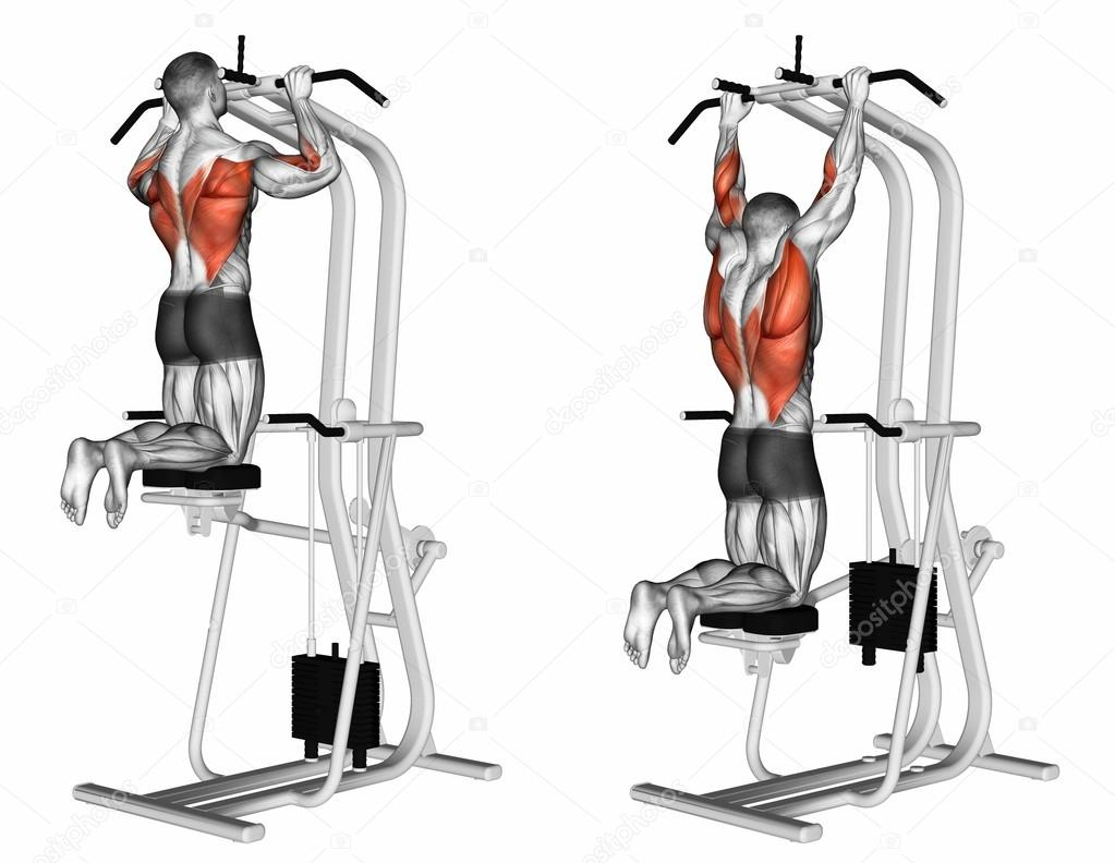 Machine assisted pull up — Stock Photo © print4ready@yahoo