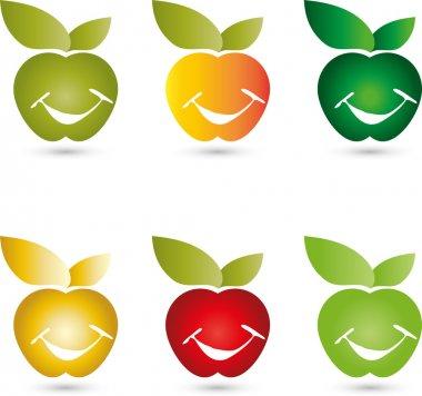 Apfel, Essen, apple smiley, Logo