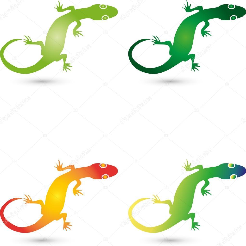 Logo, Echse, Salamander, Gecko, Tier
