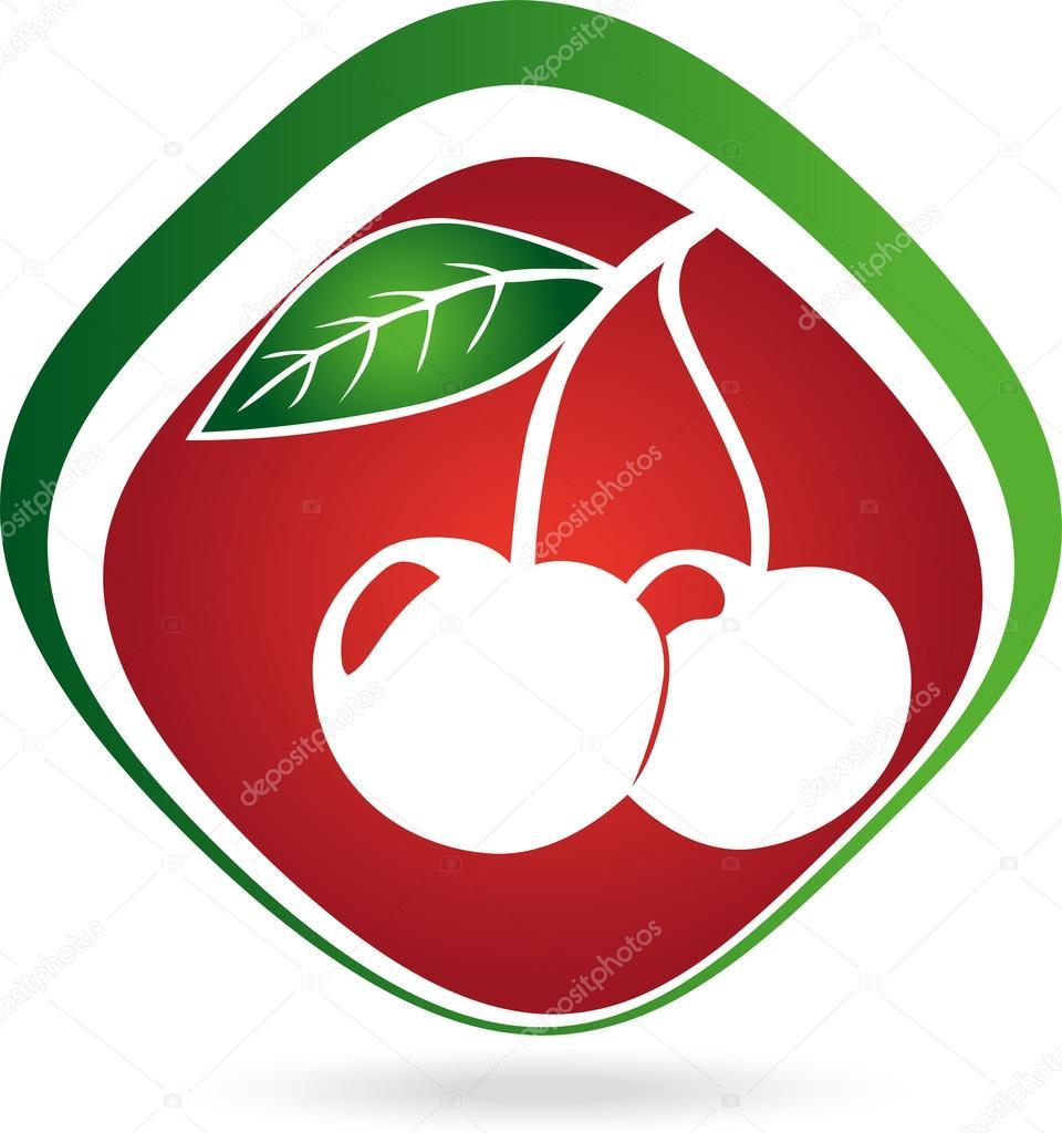 Logo, Kirsche, Obst, Essen