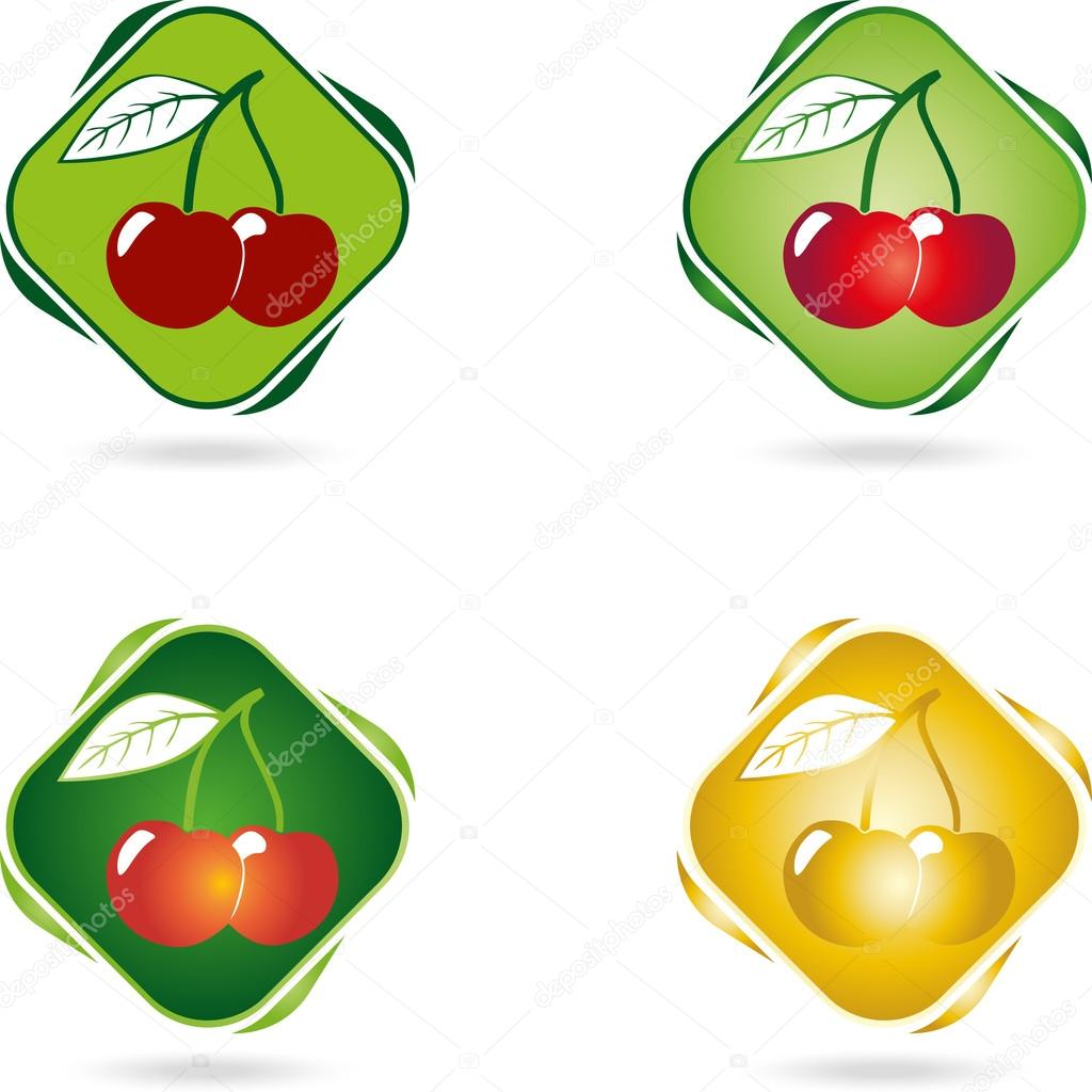 Logo, Kirsche, Obst, Vektor