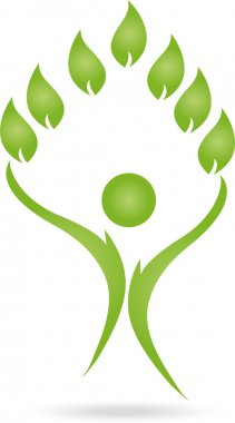 Logo, Mensch, Blatt, Heilpraktiker