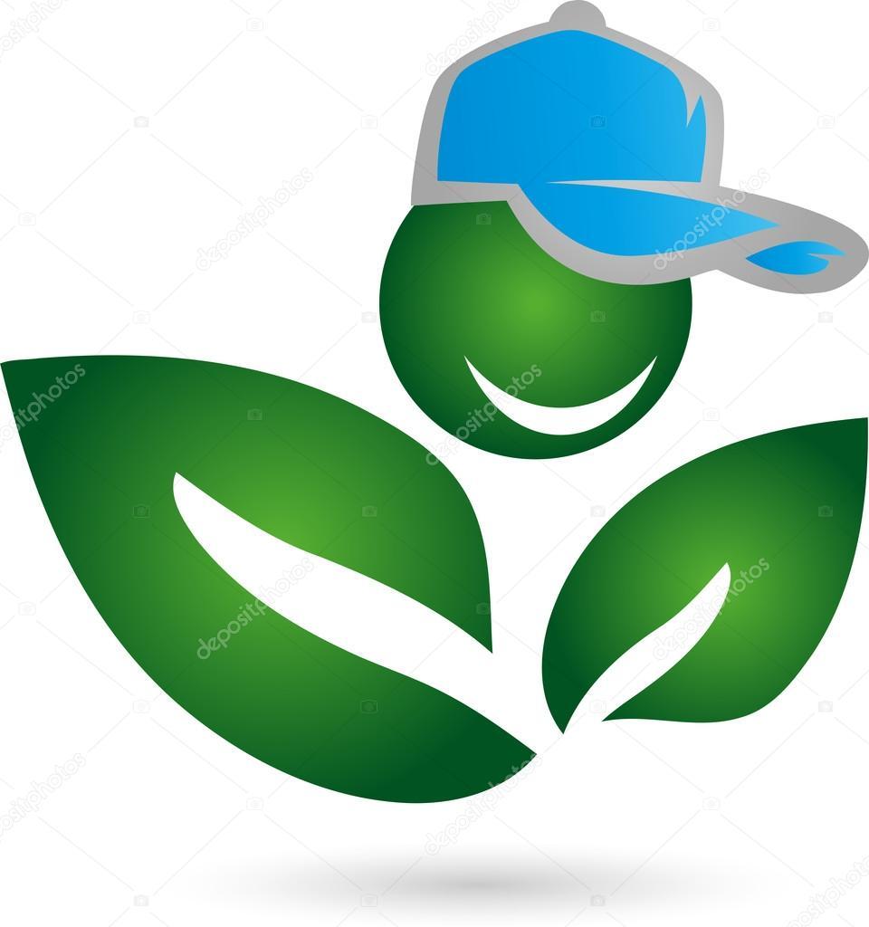 Logo, Mensch, Blatt, Pflanze