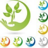 Logo, Pflanze, Blatt Heilpraktiker, ruka