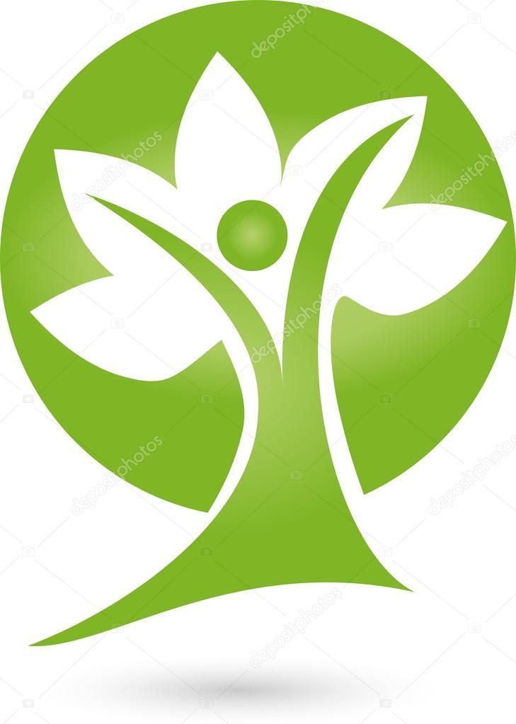 logo pflanze blatt mensch baum � archivo im225genes
