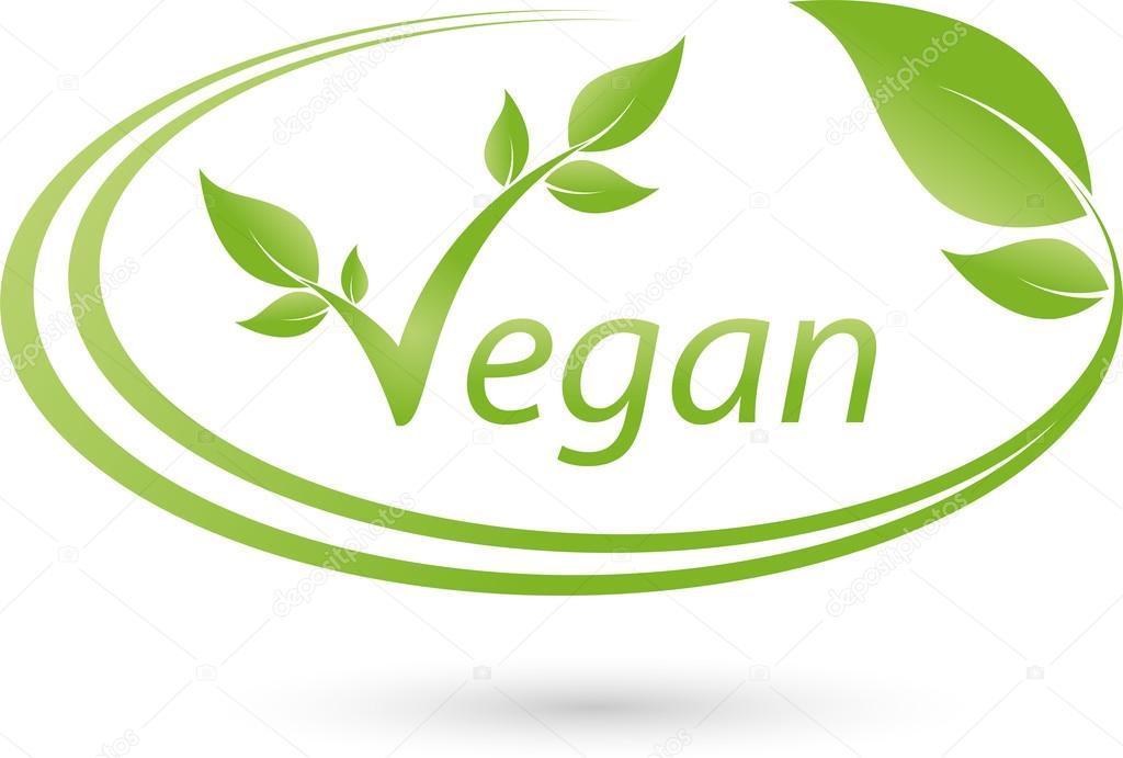 Vegetarisches Logo, Blatt, Vegan, Pflanze