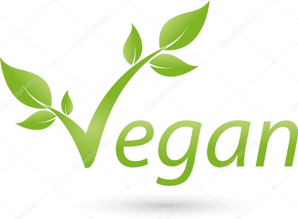 Vegetarische Symbol, Blatt, Vegan, Logo