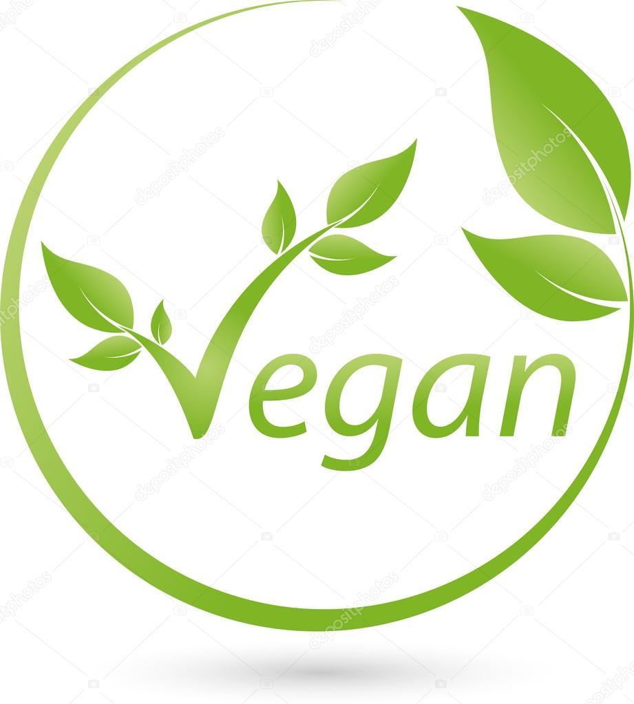 Vegetarisches Symbol, Blatt, Vegan, Logo
