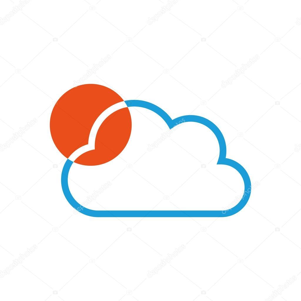 Wolke und Sonne, Logo, Wetter, Sommer