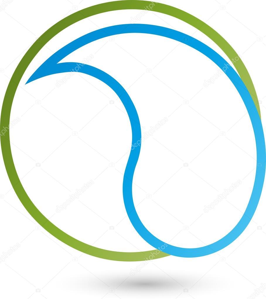 Tropfen, Kreis, Logo, Wasser