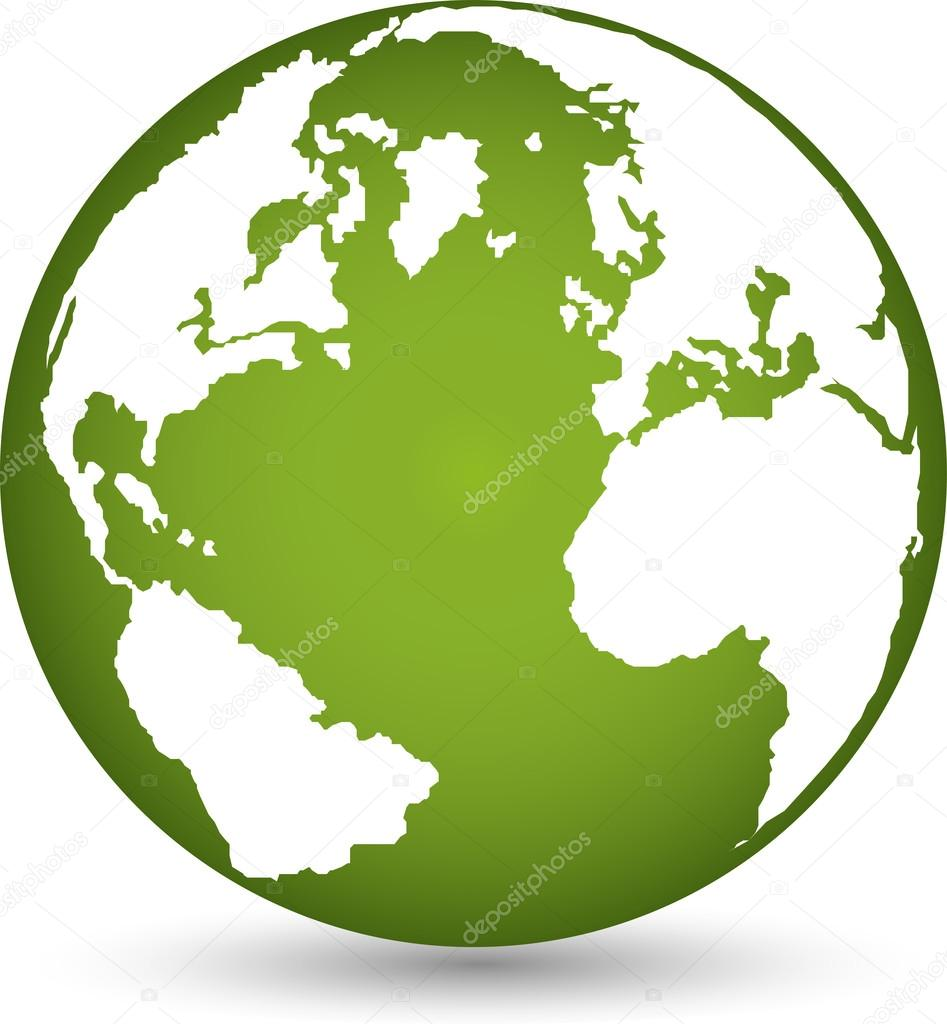 Globus Weltkugel Karte.Logo Erde Globus Weltkugel Vektor Stock Vector Waldemar