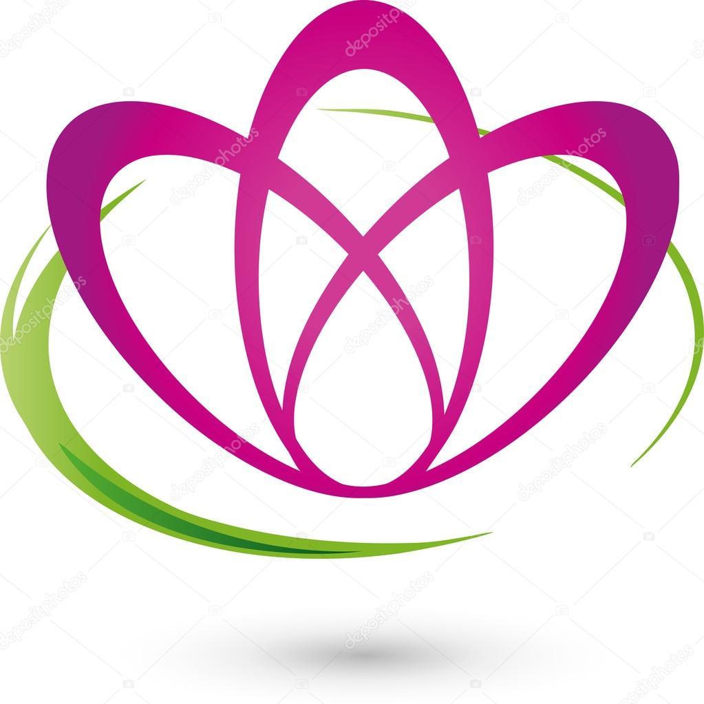 Blume, Logo, Heilpraktiker, Wellness