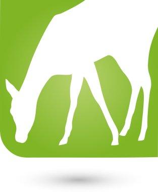 Tier, Hirsch, Logo, Zoo