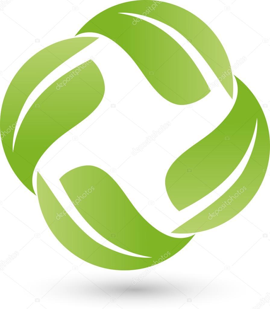 Four leaves, Bio, Logo, Heilpraktiker