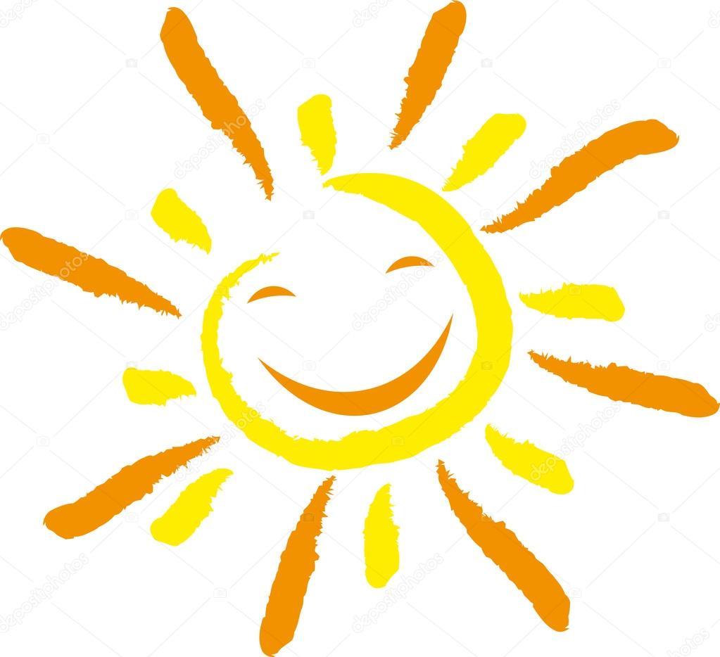 Sonne, Gesicht, Lachen, smile — Stock Vector © elena ...