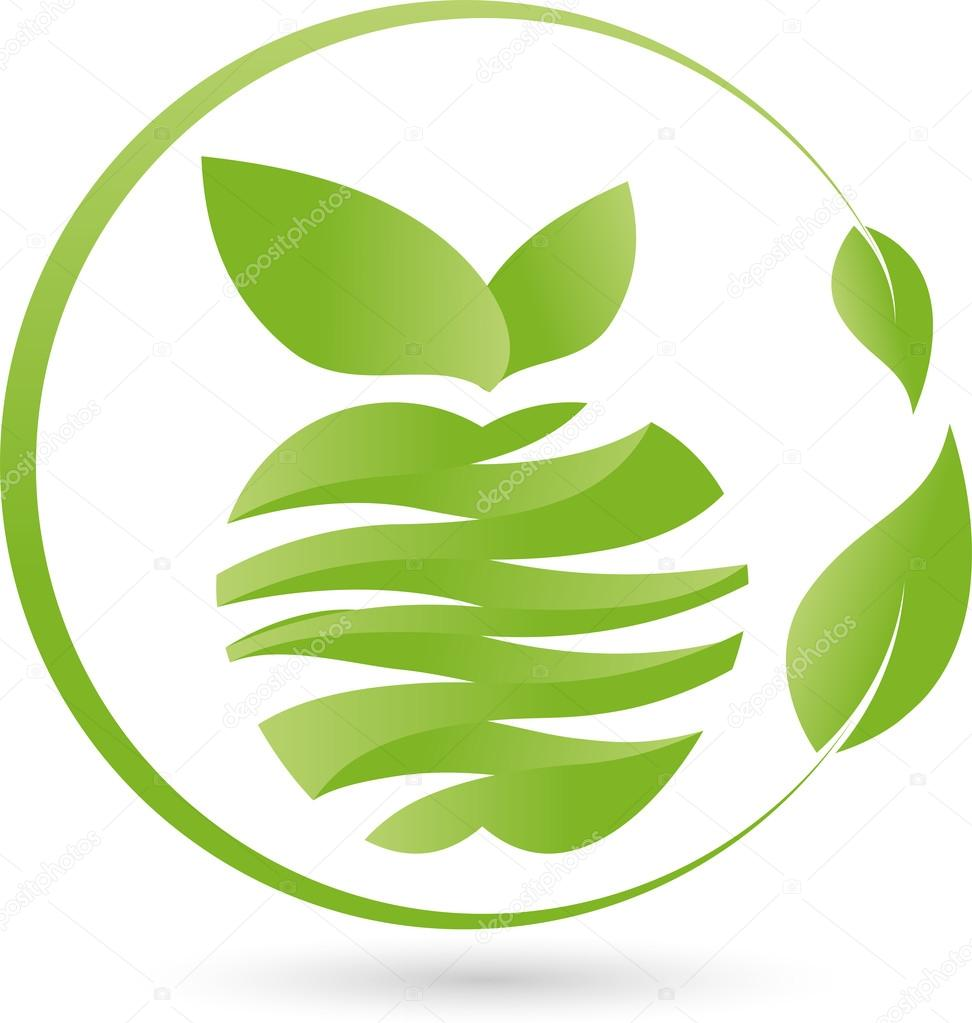 Apfel, Blatt, Logo, Essen, Vegan