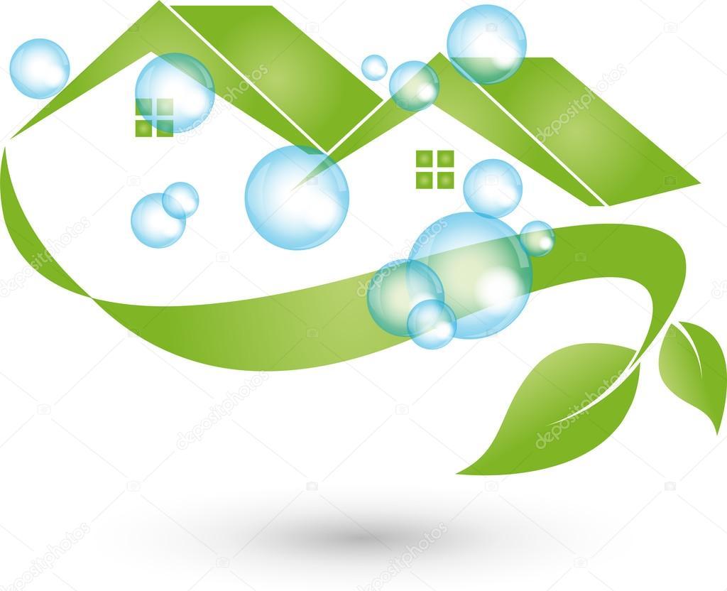 haus putzen logo reinigung reinigungsfirma stock vector elena hoelzer 117487296. Black Bedroom Furniture Sets. Home Design Ideas