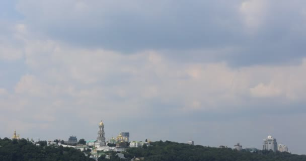 View of the right bank of the Dnieper. Sky. Kiev-Pechersk Lavra.