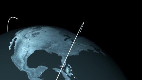 Rostoucí globální síť. Pohled z vesmíru.
