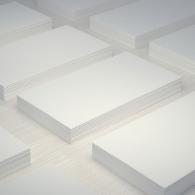 Mockup layout white blank business card 50x90