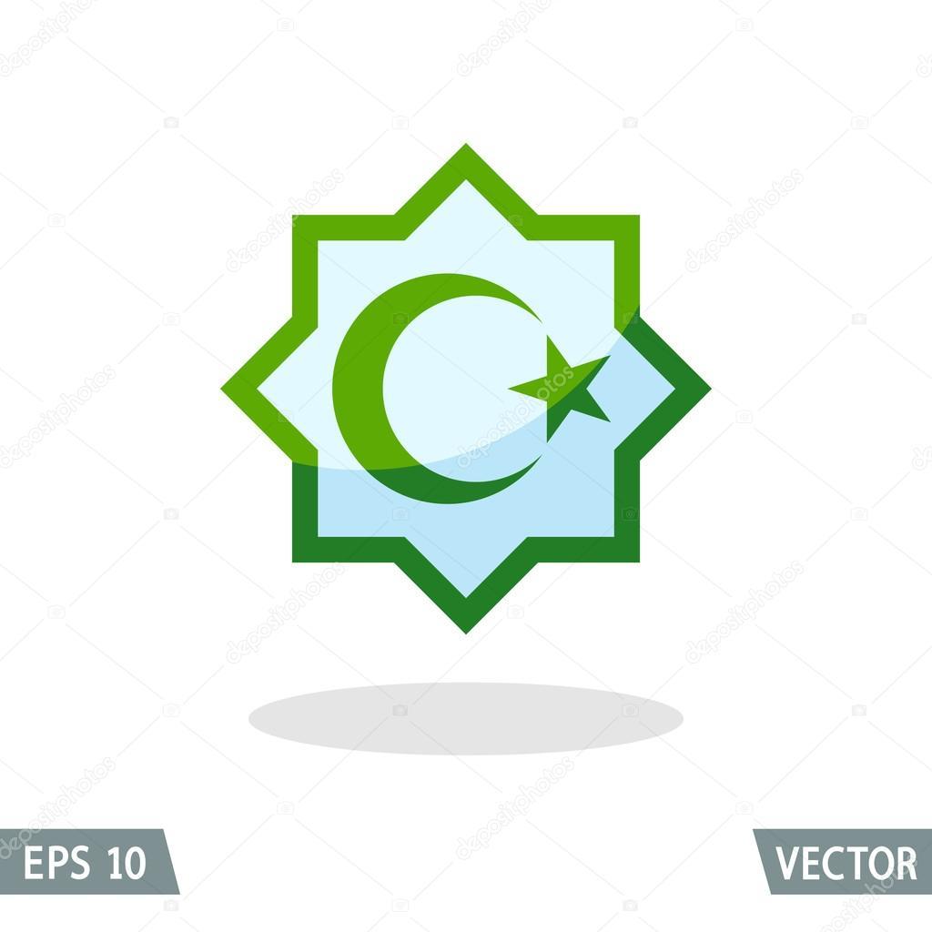 Symbol of islam star and crescent stock vector lagunculus symbol of islam star and crescent stock vector buycottarizona Gallery