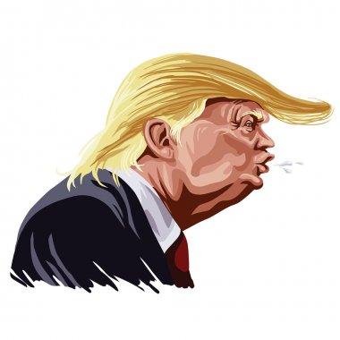 Donald Trump Cartoon Shouting