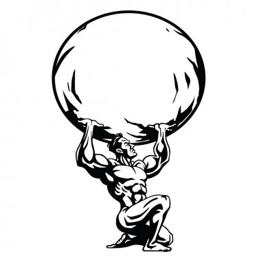 Atlas Stylized Drawing Vector