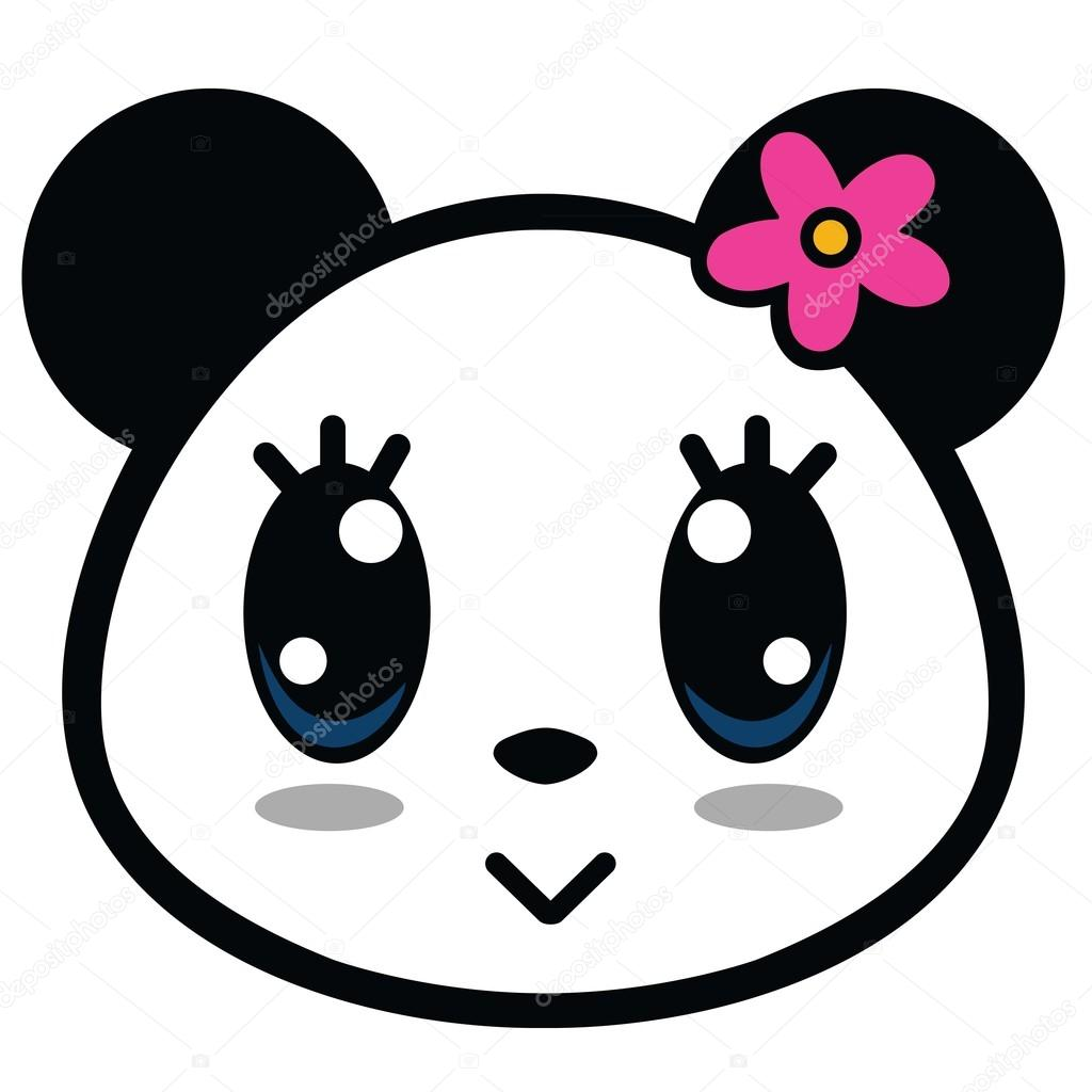Dibujos Panda Lindo Panda Girl Dibujos Animados Vector De Stock