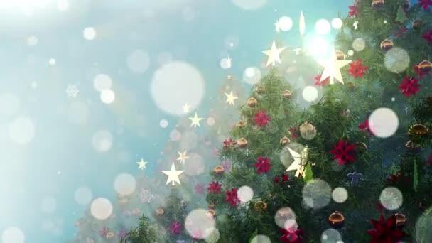 Vánoční strom je filmový záznam pro filmy a kinematografii ve vánoční fantazii. Také dobré pozadí pro scénu a tituly, loga.