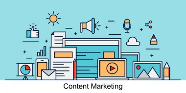 Content marketing vector concept