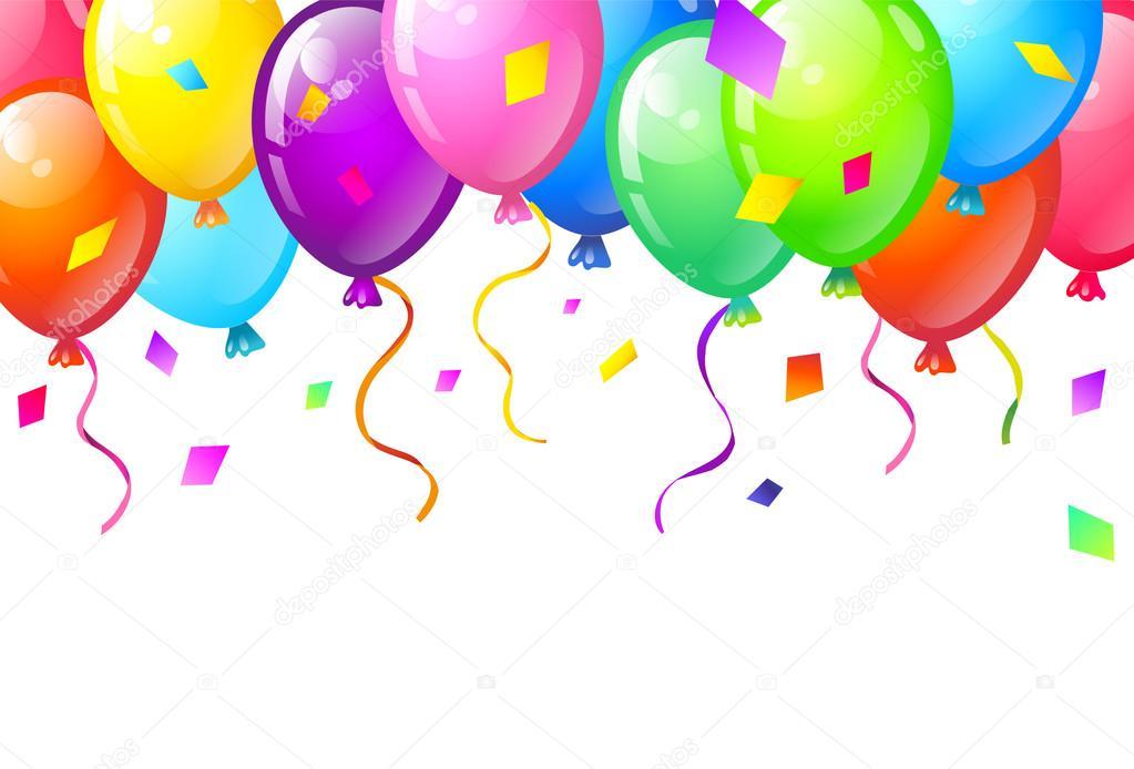 Banner Feliz Aniversario: Cor Brilhante Feliz Aniversário Balões