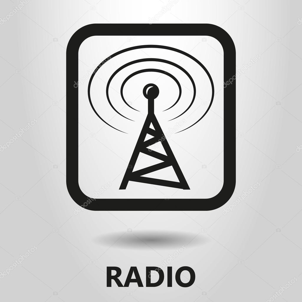 Black and white radio tower icon — Stock Vector © gorro