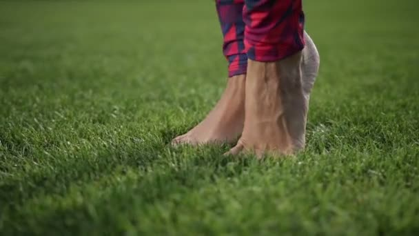 Belle gambe facendo warm-up piedi tiptoes esercitare