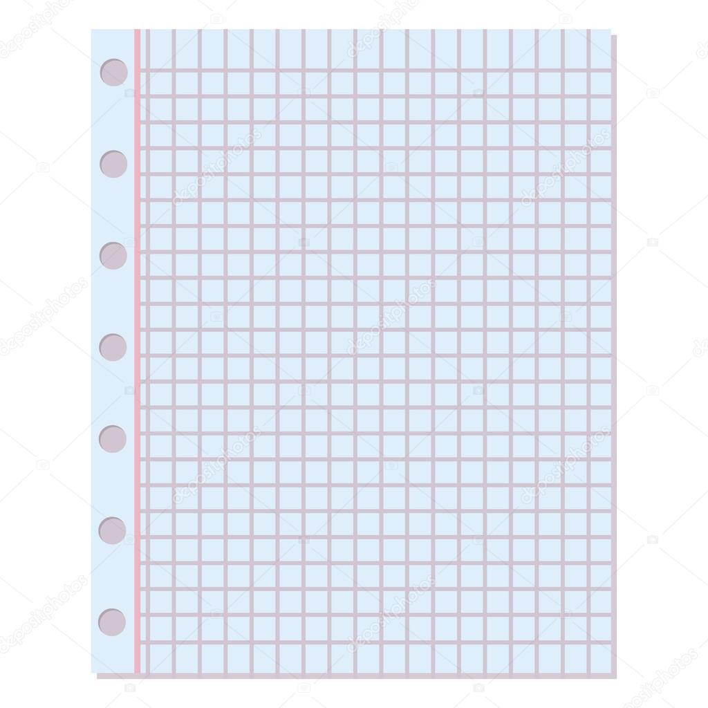 Fondo de vector de papel de cuaderno — Archivo Imágenes Vectoriales ...
