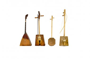 set old Kalmyk folk stringed musical instrument