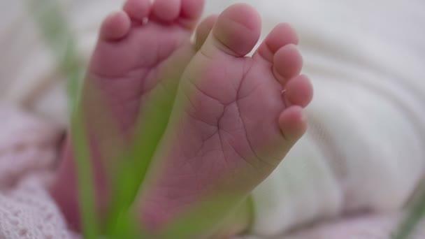 Novorozené dítě spí zblízka